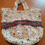 In the summer months, Kathy sells woven bags and rugs.